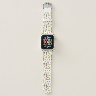 Watercolor Candied Fruit Pattern Apple Watch Band