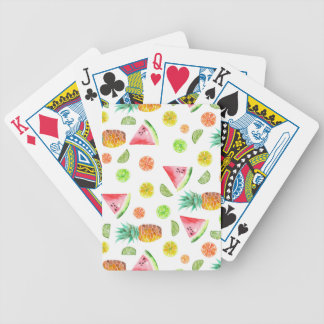 Watercolor Candied Fruit Pattern Bicycle Playing Cards