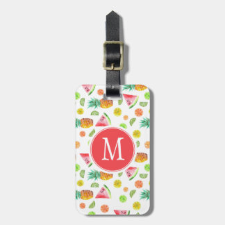 Watercolor Candied Fruit Pattern Luggage Tag