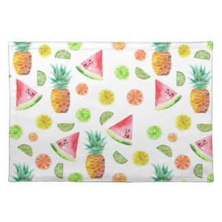 Watercolor Candied Fruit Pattern Placemat
