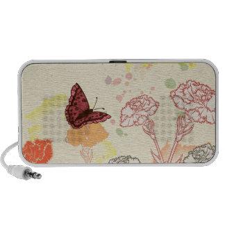Watercolor Carnations & Butterflies Speaker
