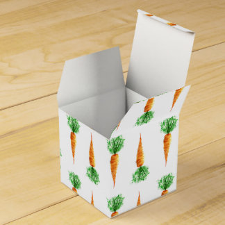 Watercolor carrots print for healthy food favour box