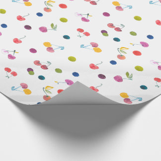 Watercolor Cherries Wrapping Paper
