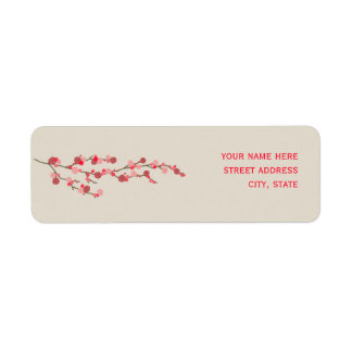 Watercolor Cherry Blossom Address Label
