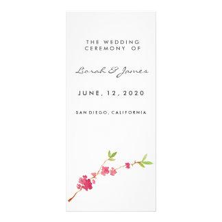 Watercolor Cherry Blossoms 10 Cm X 23 Cm Rack Card