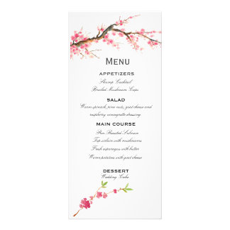Watercolor Cherry Blossoms - romantic and fresh! Personalised Rack Card