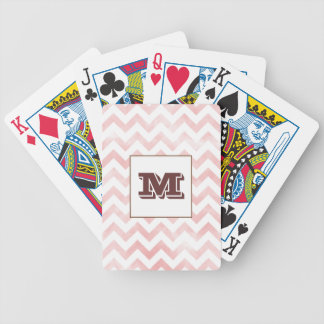 Watercolor Chevron Playing Cards - pink