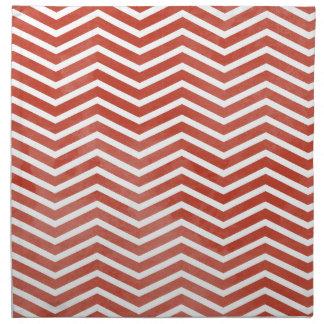 Watercolor Chevron Red (Customizable) Napkin