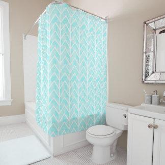 Watercolor Chevron Shower Curtain