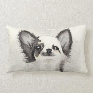 Watercolor chihuahua puppy lumbar cushion