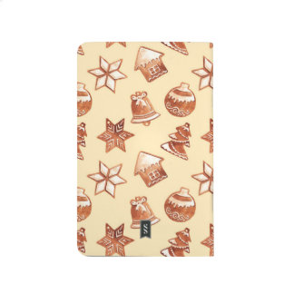 Watercolor Christmas ginger cookies Journal