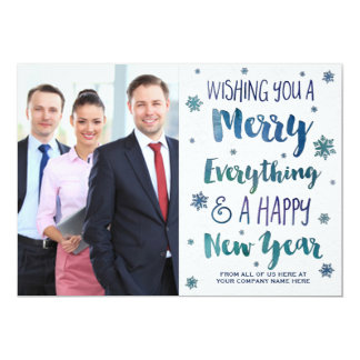 Watercolor Christmas Photo Card Business 13 Cm X 18 Cm Invitation Card
