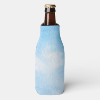 Watercolor clouds and sky background bottle cooler