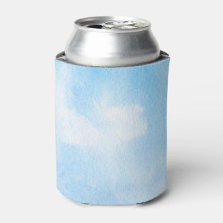 Watercolor clouds and sky background can cooler
