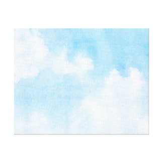Watercolor clouds and sky background canvas print