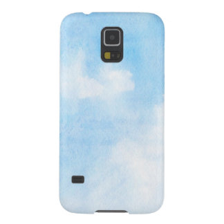 Watercolor clouds and sky background case for galaxy s5