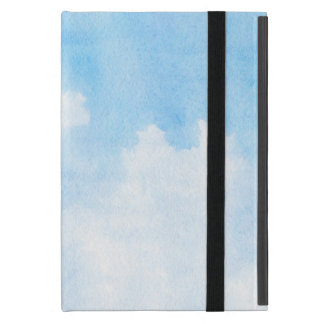 Watercolor clouds and sky background cover for iPad mini