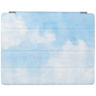 Watercolor clouds and sky background iPad cover