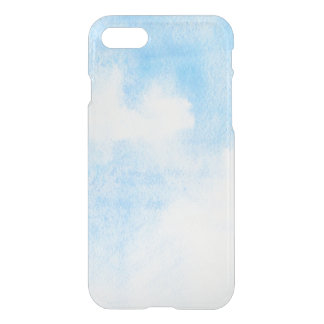 Watercolor clouds and sky background iPhone 8/7 case