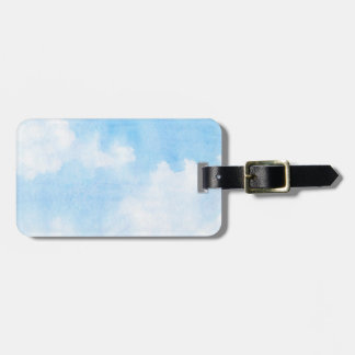 Watercolor clouds and sky background luggage tag