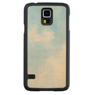 Watercolor clouds and sky background maple galaxy s5 case