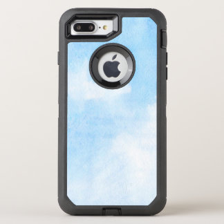 Watercolor clouds and sky background OtterBox defender iPhone 8 plus/7 plus case