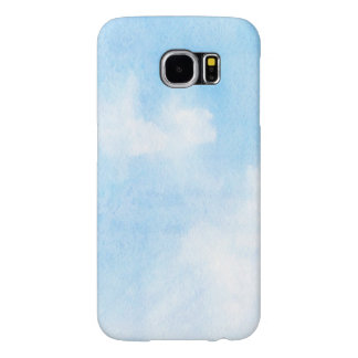 Watercolor clouds and sky background samsung galaxy s6 cases