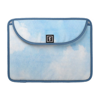Watercolor clouds and sky background sleeve for MacBooks
