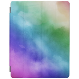Watercolor Clouds in Rainbow Hues iPad Cover