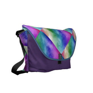 Watercolor Clouds in Rainbow Hues Courier Bags