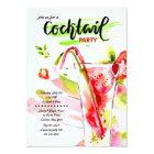 Watercolor Cocktails Invitation