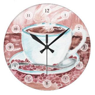 Watercolor Coffee Clock