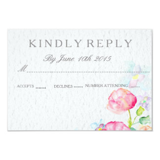 watercolor colorful flowers RSVP wedding cards 9 Cm X 13 Cm Invitation Card