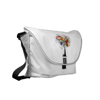 Watercolor colorful tree n butterfly.png commuter bag