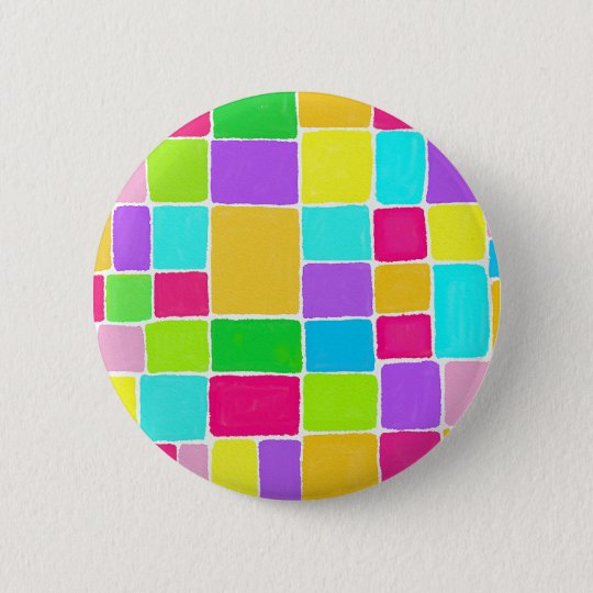 Watercolor Composition 6 Cm Round Badge