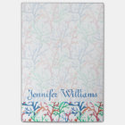 Watercolor Coral Pattern | Add Your Name Post-it Notes