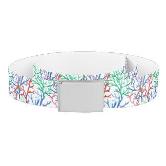 Watercolor Coral Pattern Belt