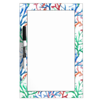 Watercolor Coral Pattern Dry Erase Whiteboard