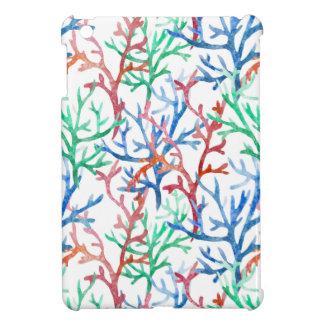 Watercolor Coral Pattern iPad Mini Cases