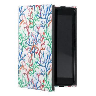 Watercolor Coral Pattern iPad Mini Covers