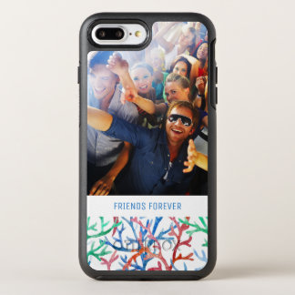 Watercolor Coral Pattern | Your Photo & Text OtterBox Symmetry iPhone 8 Plus/7 Plus Case
