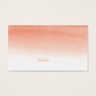 Watercolor Coral Wedding Escort Cards
