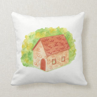 Watercolor Cozy Cottage Cushion