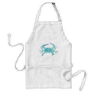 watercolor crab-silhouette standard apron