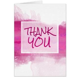 Watercolor Crimson ROSE Design - Thank You Card