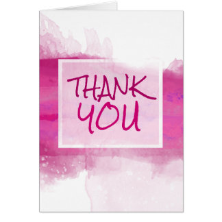 Watercolor Crimson ROSE Design - Thank You Note Card
