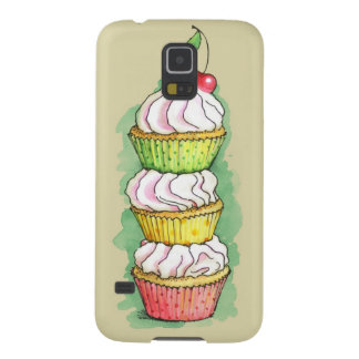 Watercolor cupcakes. Kitchen illustration. Galaxy S5 Cover