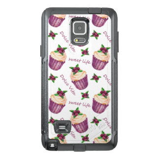 Watercolor cupcakes OtterBox samsung note 4 case