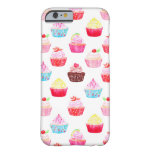 Watercolor cupcakes pattern barely there iPhone 6 case