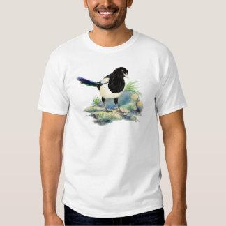 Watercolor Curious Magpie Fun Bird Art T-shirts